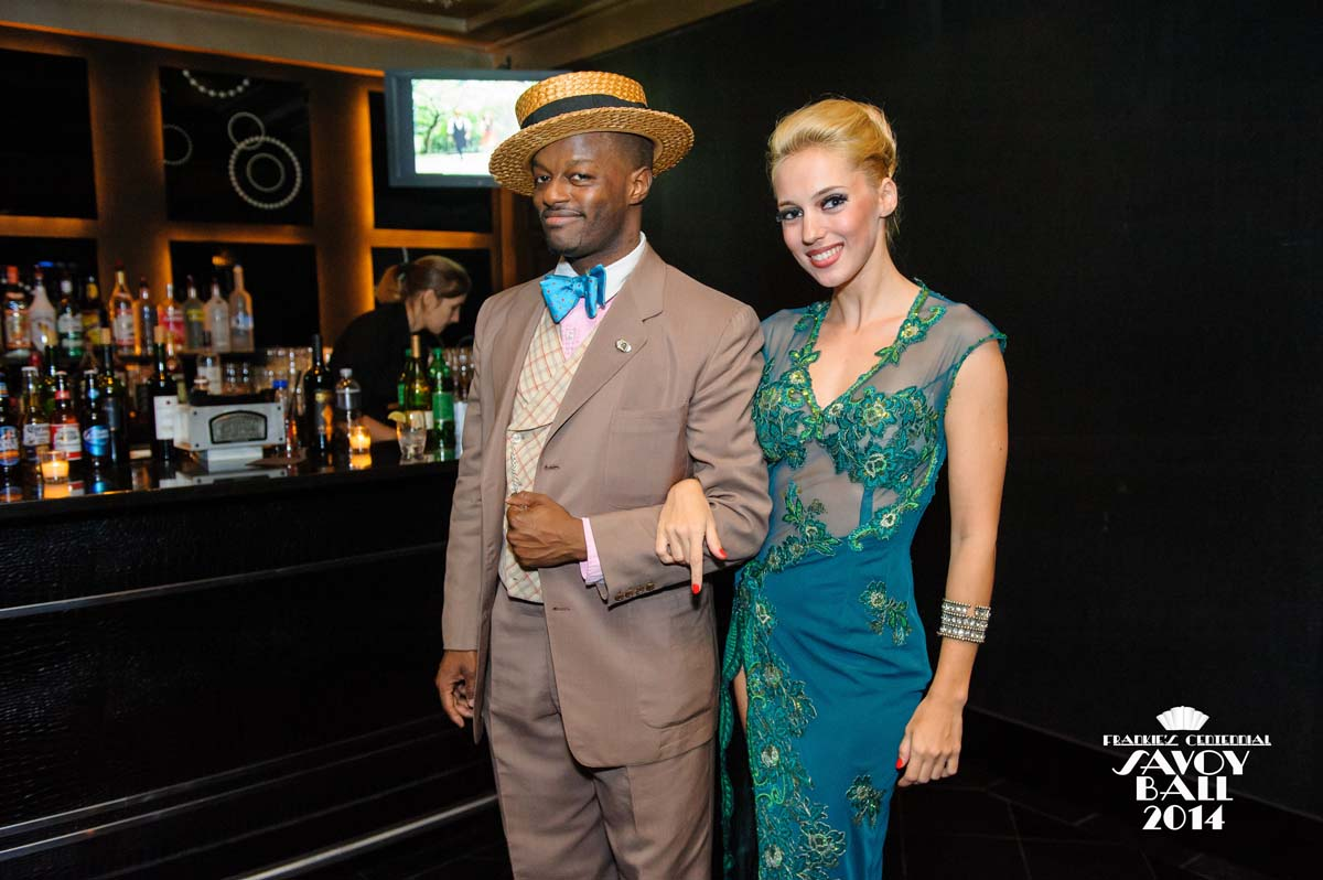 Dandy Wellington and Maria Blanco at Frankie's Centennial Savoy Ball 2014 - Photo by Jane Kratchovil