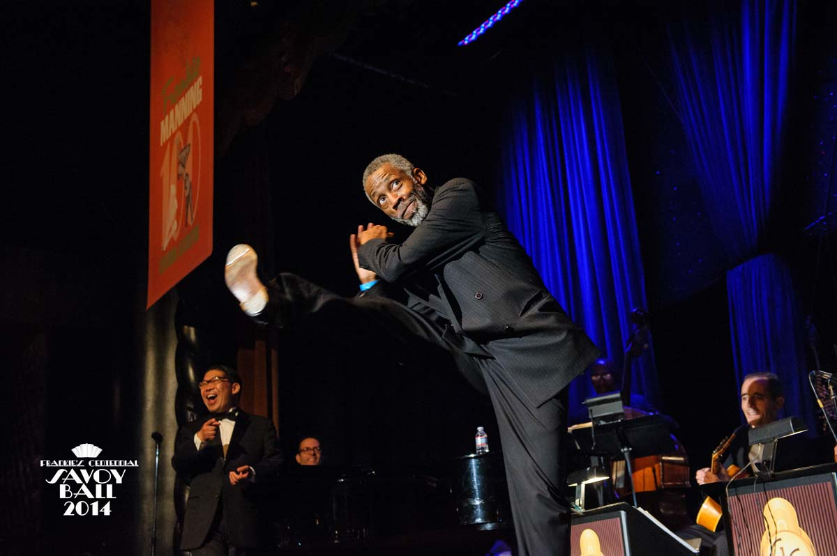 Chester Whitmore and George Gee  at Frankie's Centennial Savoy Ball 2014 - Photo by Jane Kratchovil
