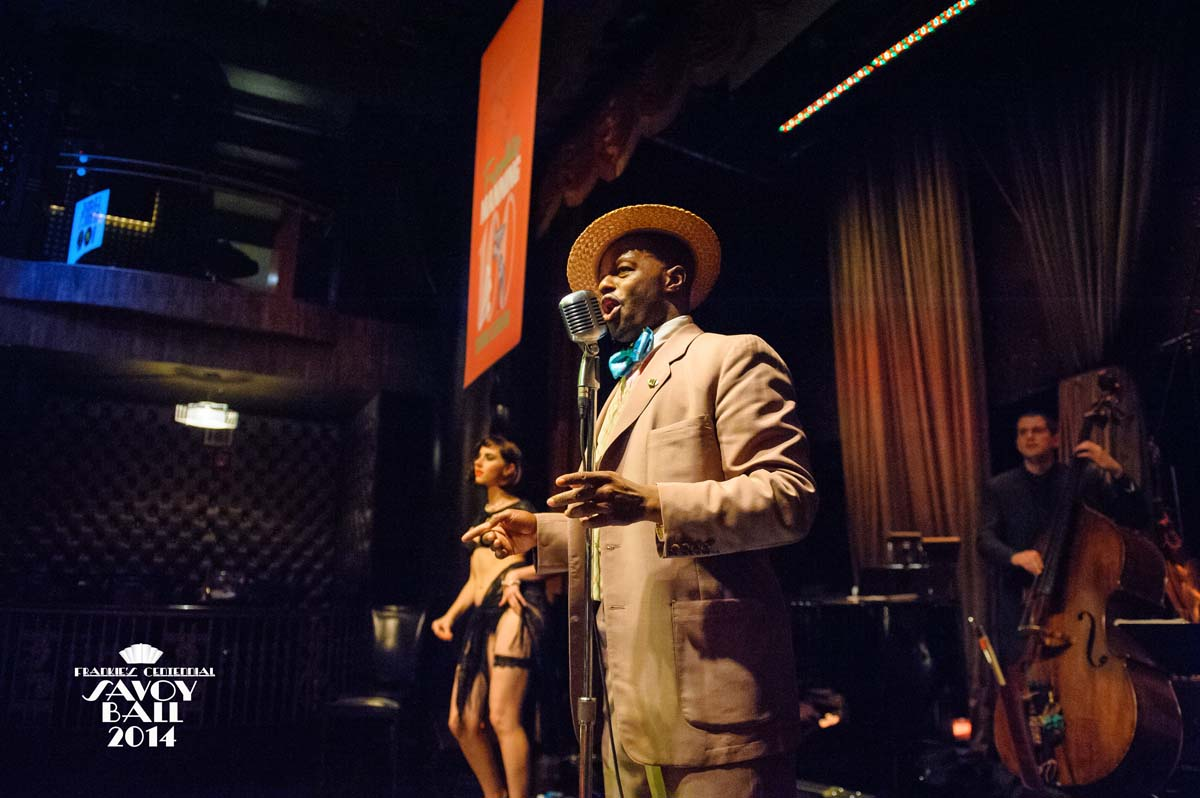 Dandy Wellington, Master of Ceremonies  at Frankie's Centennial Savoy Ball 2014 - Photo by Jane Kratchovil
