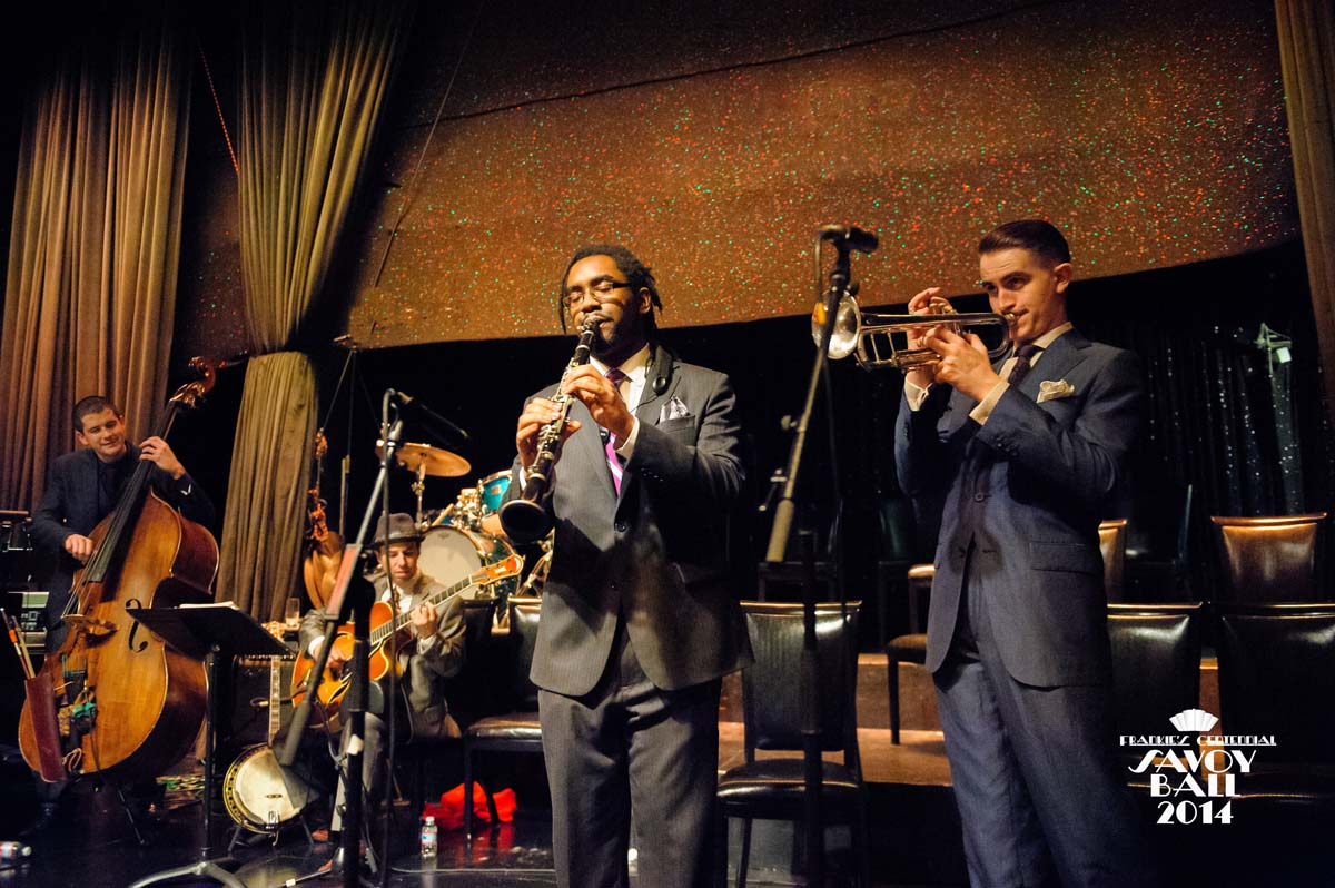 Dandy Wellington's Band  at Frankie's Centennial Savoy Ball 2014 - Photo by Jane Kratchovil