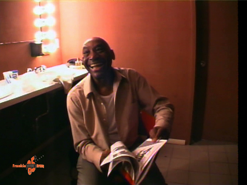 Frankie Manning in his Dressing Room At Frankie 85, Roseland Ballroom, 1999, reviewing Program With Letter from Roseland.